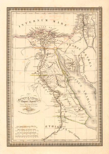 Associate Product ''Aegyptus Antiqua, ad Tempora Romana' by Vivien de Saint Martin. Egypt 1825 map