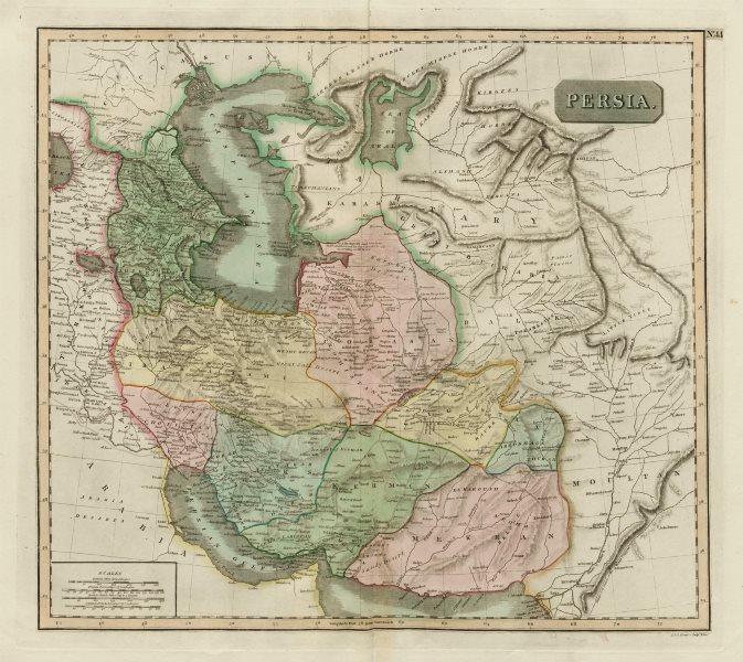"Associate Product ""Persia"" & the Caspian Sea. Caucasus Tartary Afghanistan Iran. THOMSON 1817 map"