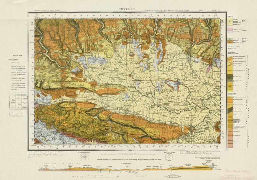 Associate Product Pickering geological survey sheet 53 North York Moors Howardian Hills 1967 map