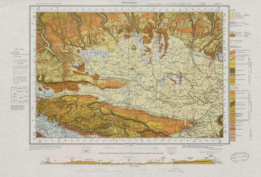 Associate Product Pickering geological survey sheet 53 North York Moors Howardian Hills 1973 map