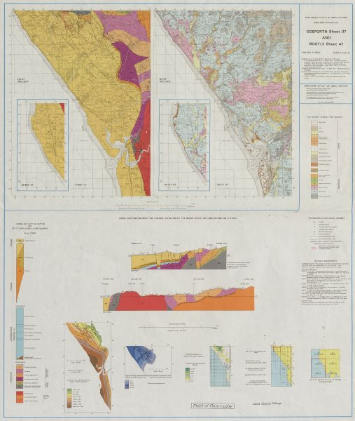 Associate Product Gosforth and Bootle geological survey map sheet 37 & 47. Cumbria Sellafield 1980