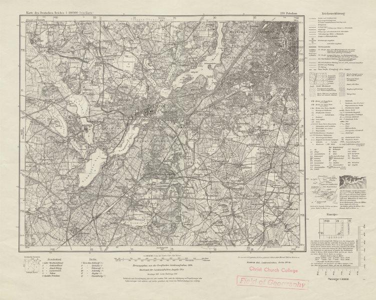 Associate Product WW2 Nazi map SW Berlin Sheet 293 Potsdam Zauch-Belzig Teltow Zehlendorf 1951