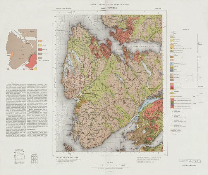 Associate Product Loch Torridon geological survey map sheet 81. Scotland Applecross Peninsula 1975