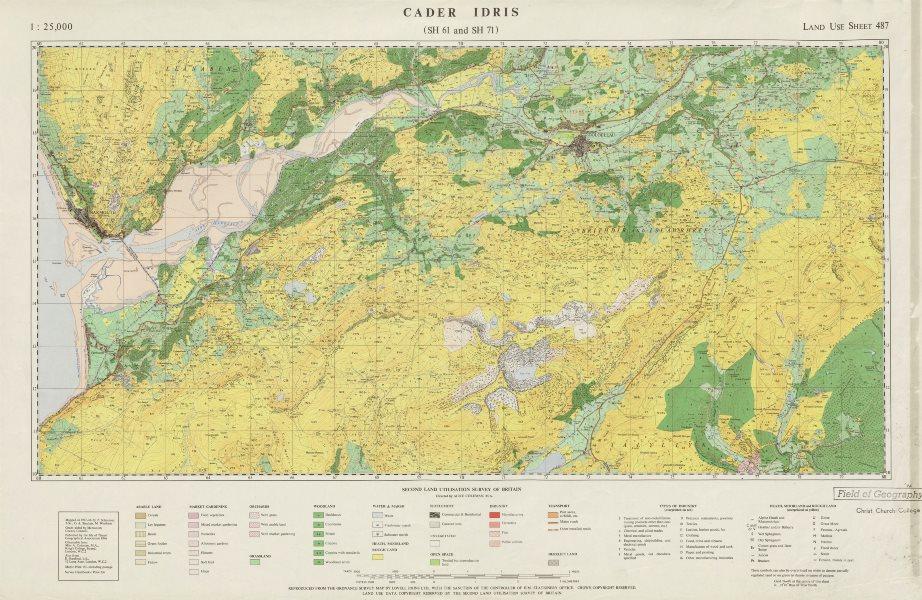 Associate Product Cader Idris SH61/71 Land Use Survey map 487 Dolgellau Barmouth 87x55cm 1966