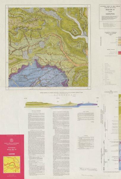 Associate Product Castleton geological survey sheet SK18 Derbyshire Peak District 1975 old map