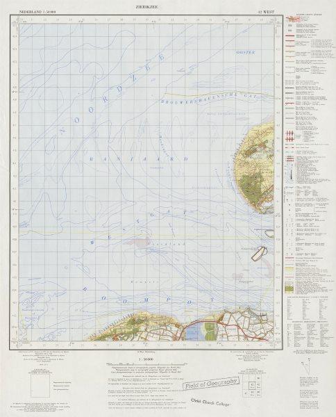 Associate Product Nieuw-Hamstede Westenschouwen Breezand. Pre-Oosterscheldekering 42 West 1972 map