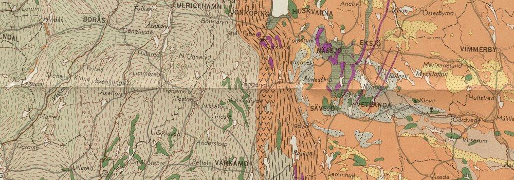 Karta Over Sveriges Berggrund Sweden Pre Quarternary Rocks South