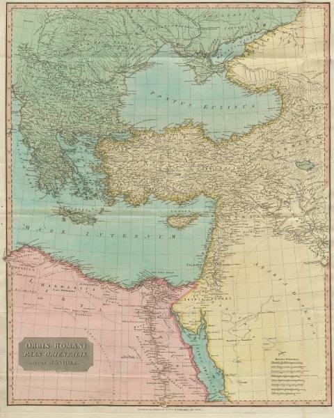 """Associate Product """"Orbis Romani pars Orientalis"""". Roman Empire eastern part. D'ANVILLE 1815 map"""