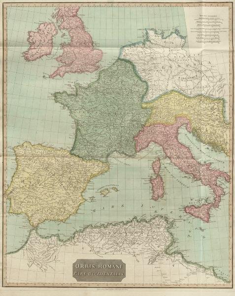 "Associate Product ""Orbis Romani pars Occidentalis"". Roman Empire western part. D'ANVILLE 1815 map"