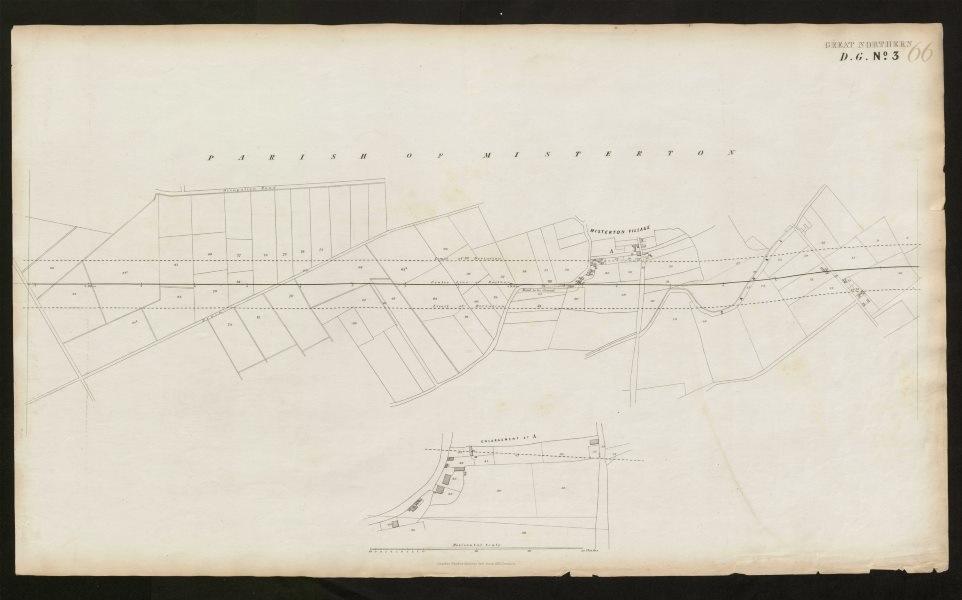 Associate Product GNR railway plan. Misterton village, Nottinghamshire. Great Northern c1870 map