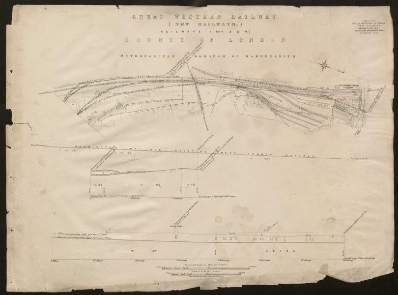 Associate Product GWR/London Overground railway Shepherds Bush Uxbridge Road Westfield 1905 map