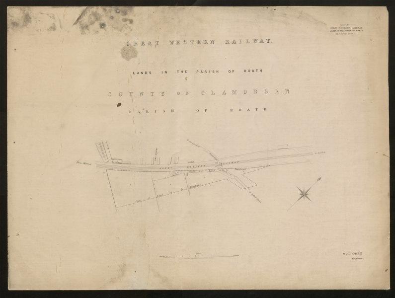 Associate Product GWR Railway plan. Roath / Adamsdown, Cardiff. Zinc Street Splott Road 1877 map