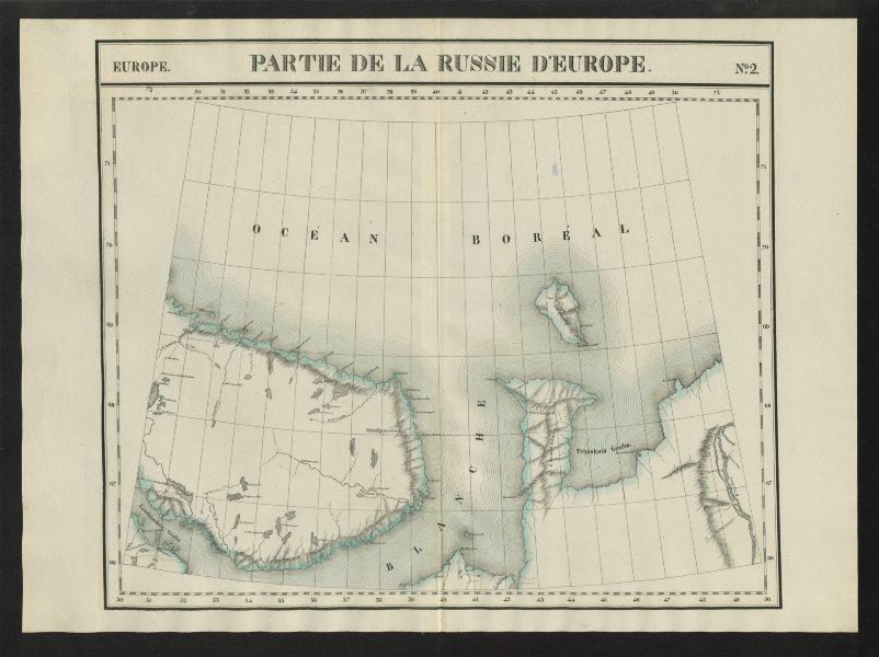 """Associate Product """"Partie de la Russie d'Europe"""" #2 Northern Russia Murmansk VANDERMAELEN 1827 map"""
