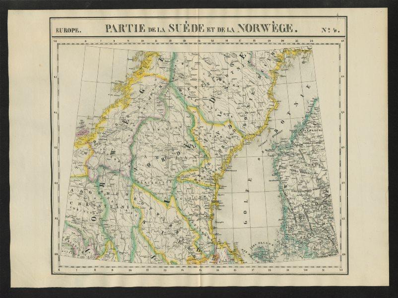 "Associate Product ""Partie de la Suède et de la Norwège"" #4 Norway Sweden. VANDERMAELEN 1827 map"