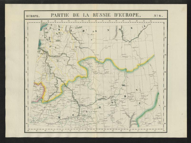 """Associate Product """"Partie de la Russie d'Europe"""" #6 Archangel Vologda Russia VANDERMAELEN 1827 map"""