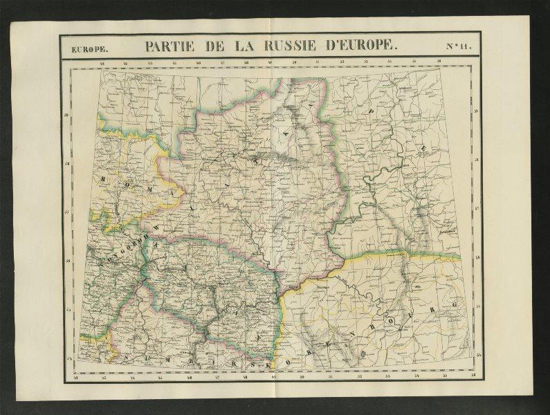 "Associate Product ""Partie de la Russie d'Europe"" #11 Russia Kirov Perm Kazan VANDERMAELEN 1827 map"