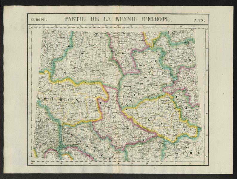 """""""Partie de la Russie d'Europe"""" #15 Ukraine Belarus. VANDERMAELEN 1827 old map"""