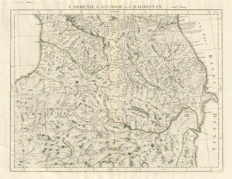 """Associate Product """"l'Arménie, la Géorgie et la Daghistan"""" Caucasus. SANTINI/RIZZI-ZANNONI 1784 map"""