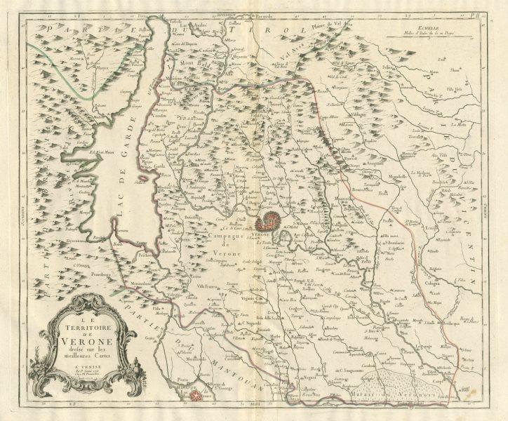 Le Territoire de Verone Verona Veneto Italy SANTINI 1784 old