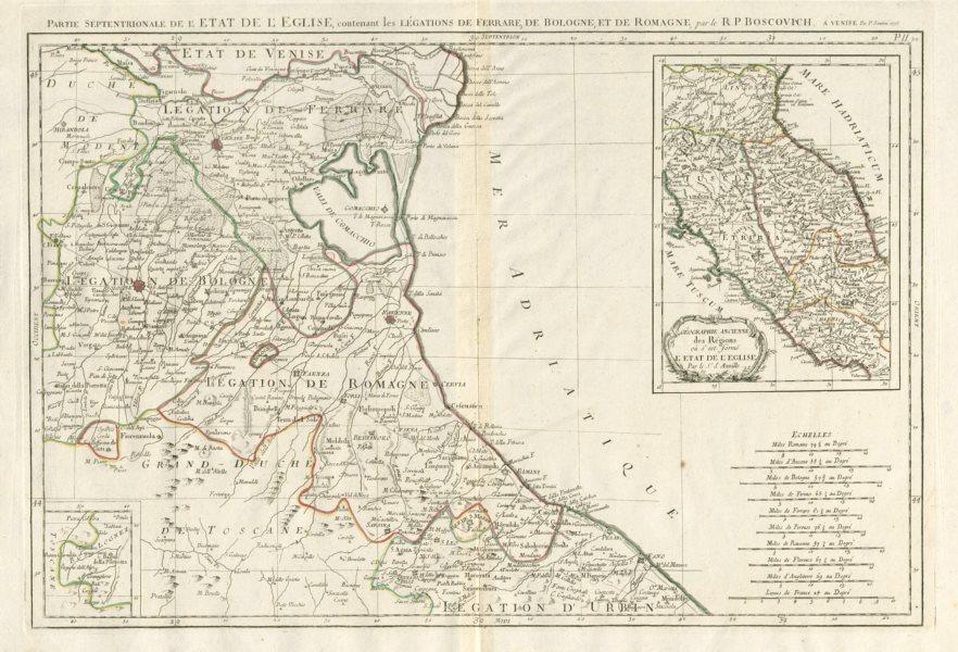 """Associate Product """"Partie Septentrionale de l'Etat de l'Eglise…"""" SANTINI / D'ANVILLE 1784 map"""