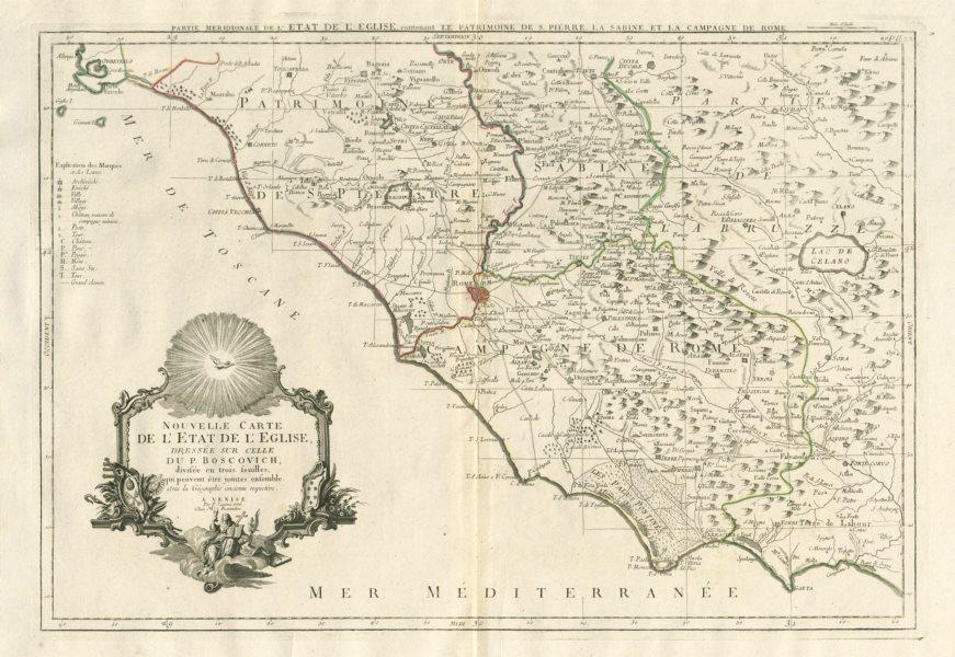 """Associate Product """"Partie Meridionale de l'Etat de l'Eglise…"""" Lazio. SANTINI / BOSCOVICH 1784 map"""