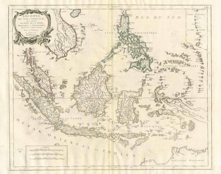 "Associate Product ""Archipel des Indes Orientales…"" East Indies Indonesia SANTINI/VAUGONDY 1784 map"