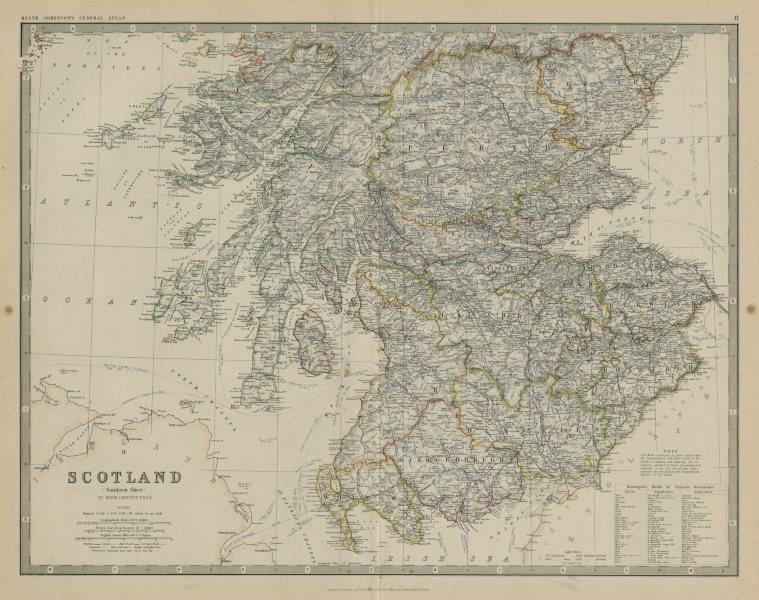Associate Product Scotland (Southern Sheet) 50x60cm. JOHNSTON 1879 old antique map plan chart