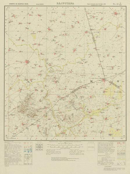 Associate Product SURVEY OF INDIA 45 F/NE Rajasthan Kuchera Asop Merta Road Kuchera Run 1936 map