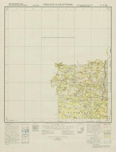 Associate Product SURVEY OF INDIA 45 L/NW Rajasthan Chikarda Mandfiya Mangalwar Nagawali 1938 map