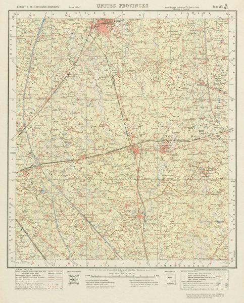 Meerut India Map.Survey Of India 53 H Ne Uttar Pradesh Meerut Hapur Dasna Gulaothi