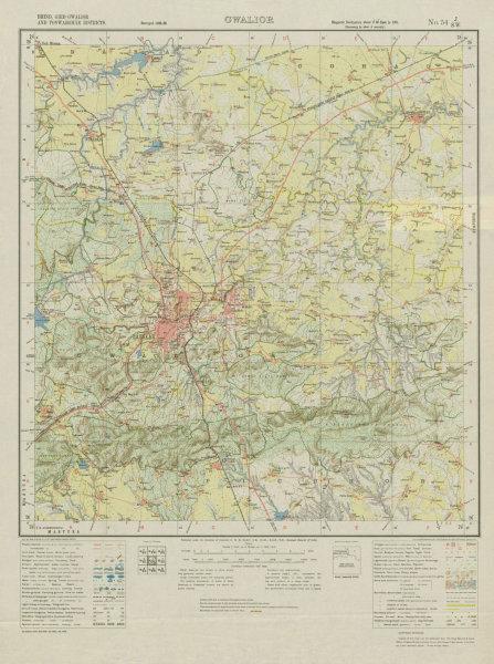 Associate Product SURVEY OF INDIA 54 J/SW Madhya Pradesh Gwalior Fort Gohad Nurabad Antri 1932 map