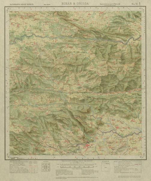 Associate Product SURVEY OF INDIA 73 E/11 Jharkhand Dokad Holong Rahe Bisa Soso Karo Beti 1928 map