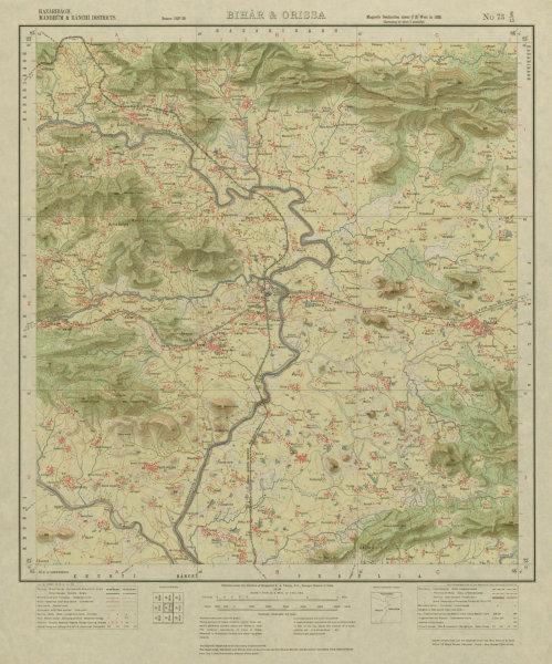 Associate Product SURVEY OF INDIA 73 E/15 West Bengal Jharkhand Jhalda Tulin Muri Koncho 1928 map