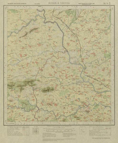 Associate Product SURVEY OF INDIA 73 E/16 West Bengal Jharkhand Suisa Kuda Durri Ichagarh 1928 map
