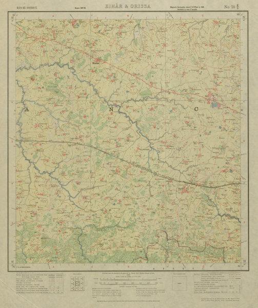 Associate Product SURVEY OF INDIA 73 E/3 Jharkhand Mandar Jariya Nagri Bero Loiva Nurju 1928 map