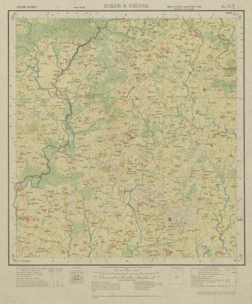 Associate Product SURVEY OF INDIA 73 E/4 Jharkhand Karra Jariya Lodhma Dorma Govidpur 1928 map
