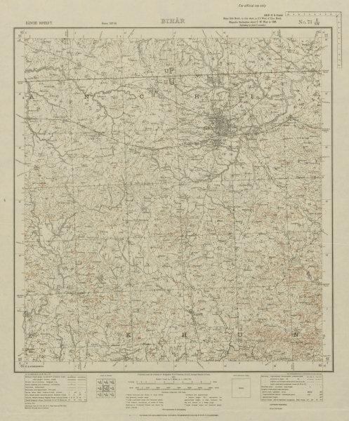 Associate Product SURVEY OF INDIA 73 E/SW Jharkhand Ranchi Nagri Khunti Karra Ratu Mandar 1931 map