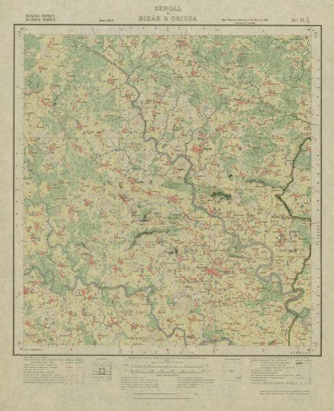 Associate Product SURVEY OF INDIA 73 I/12 West Bengal Kenda Puncha Manbazar Kenda Bagda 1928 map