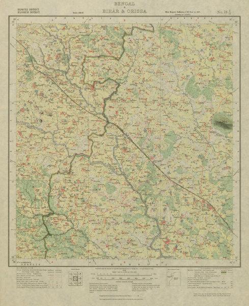 SURVEY OF INDIA 73 I/15 West Bengal Chhatna Jhantipahari Jorehira 1928 old map