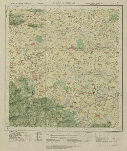 Associate Product SURVEY OF INDIA 73 I/3 West Bengal Ajodhya Hills Arsha Kotshila Bhaddi 1928 map