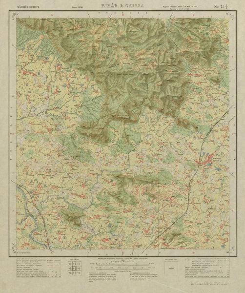 Associate Product SURVEY OF INDIA 73 I/4 West Bengal Jharkhand Balarampur Ajodhya Hills 1928 map