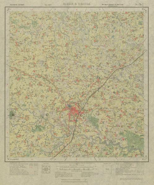 Associate Product SURVEY OF INDIA 73 I/7 West Bengal Purulia Damda Kangasabati River  1928 map