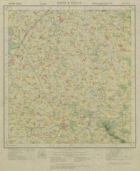 Associate Product SURVEY OF INDIA 73 I/8 West Bengal Urma Arabad Barabhum Chakaltore 1928 map