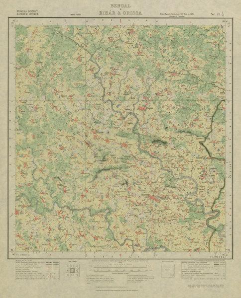 Associate Product SURVEY OF INDIA 73 I/12 West Bengal Puncha Manzabar Bagda Kenda Napara 1928 map