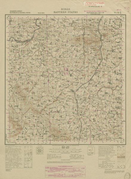 Associate Product SURVEY OF INDIA 73 J/2 Jharkhand Halidpokhar Gobindpur Banka Forest 1940 map