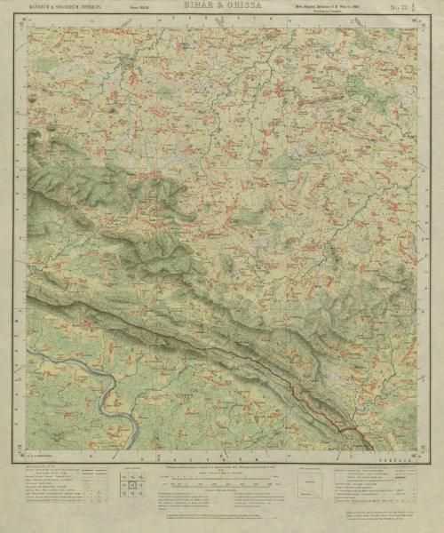 Associate Product SURVEY OF INDIA 73 J/5 Jharkhand West Bengal Dalma Elephant Reserve 1926 map