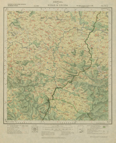 Associate Product SURVEY OF INDIA 73 J/9 West Bengal Chandil Dalma Banduan Kuilapal Beko 1927 map