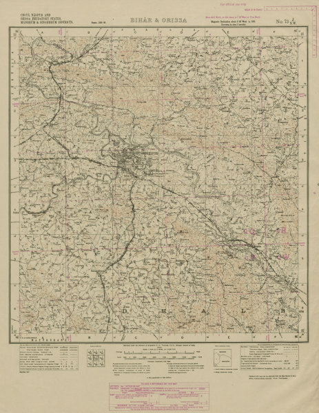 Associate Product SURVEY OF INDIA 73 J/NW Jharkhand Jamshedpur Dalma Hilltop Sanctuary 1929 map