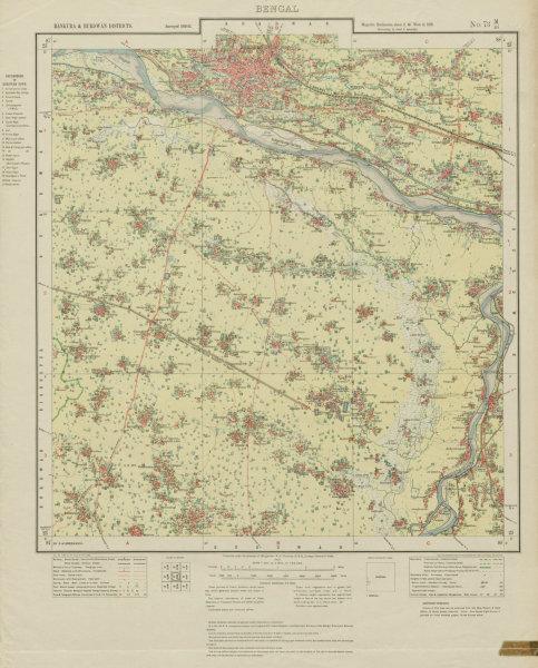 Associate Product SURVEY OF INDIA 73 M/16 West Bengal Bhardhaman Rayna Jamalpur Amrah 1931 map