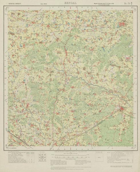 Associate Product SURVEY OF INDIA 73 M/3 West Bengal Beliatore Gangajalghati Maliara 1930 map